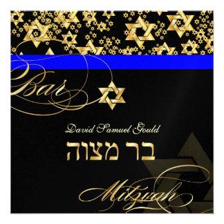 PixDezines Star of David, Bar Mitzvah Announcement