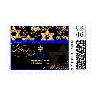 PixDezines Star of David, Bar Mitzvah/monogram Postage Stamp