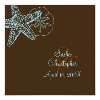 PixDezines Starfish/Beach Wedding Invitations**