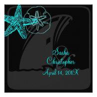 PixDezines Starfish/Cruise ShipWedding Invitations