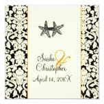 PixDezines starfish+damask/diy colors Card