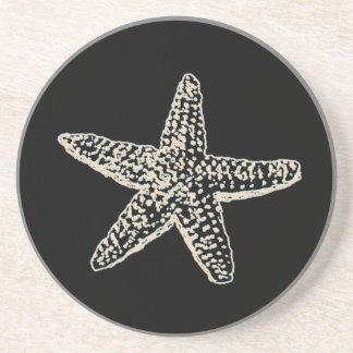 PixDezines Starfish/natural+black Drink Coasters