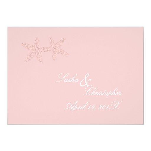 PixDezines Starfish Wedding Invitations