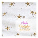 PixDezines Starfish+white sand/beach wedding Personalized Invitations