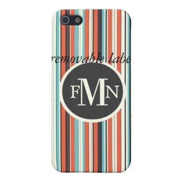 Beach Themed PixDezines Stripes ♥♥♥♥ Cover For iPhone SE/5/5s