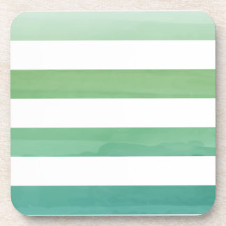 PixDezines stripes/digital watercolor Drink Coaster