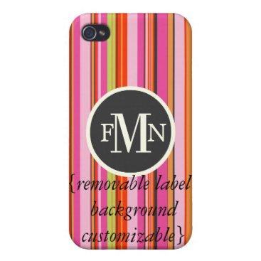 Beach Themed PixDezines Stripes ♥♥♥♥ iPhone 4/4S Cover