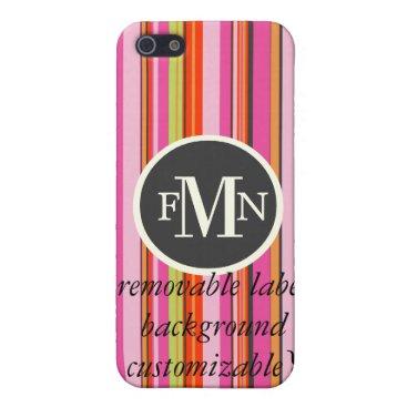 Beach Themed PixDezines Stripes ♥♥♥♥ iPhone SE/5/5s Cover