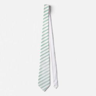 PixDezines stripes mint green digital watercolor Tie