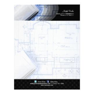 PixDezines Stylish Architect/art deco rings Letterhead