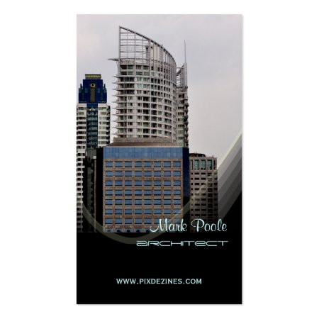 City Buildings Professional Architect Business Cards