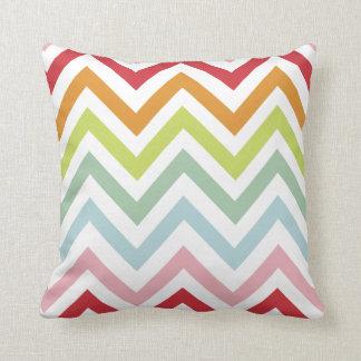 PixDezines summer chevron pattern Throw Pillows