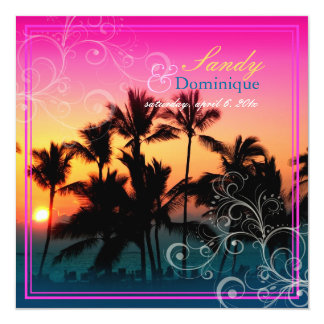 PixDezines sunset at A-Bay/hawaii Customized Invitation Cards