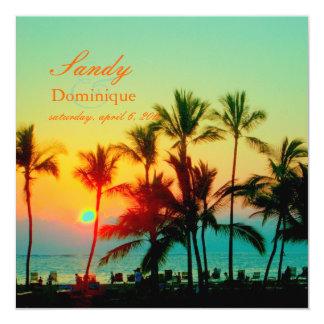 PixDezines sunset at A-Bay/hawaii Personalized Invitation