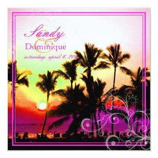PixDezines sunset at A-Bay/hawaii Invites
