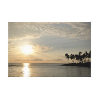 PixDezines Sunset at Waikiki Canvas Print