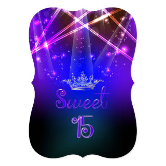 PixDezines Sweet 15, Laser Lights/Neon Lights Card