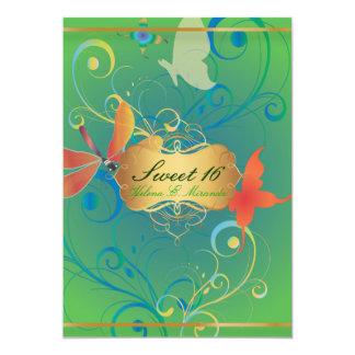 PixDezines Sweet 16/Butterfiles/Swirls/Dragonflies Card