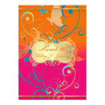 "PixDezines Sweet 16/Butterfiles/Swirls/Dragonflies 5"" X 7"" Invitation Card"