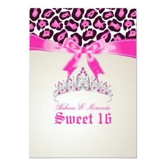 PixDezines Sweet 16/pink jaguar Personalized Announcements