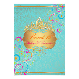 PixDezines Sweet 16/Rainbow Swirls Card