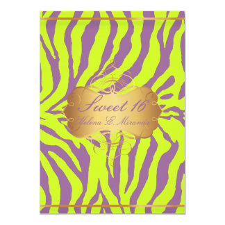 PixDezines Sweet 16/Zebra Stripes Card