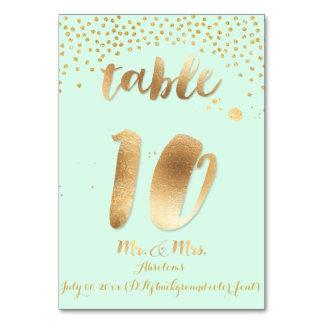 PixDezines table 10/gold sprinkles/DIY color/mint Card
