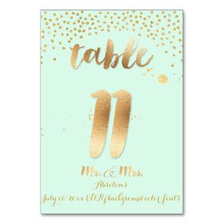 PixDezines table 11/gold sprinkles/DIY color/mint Card