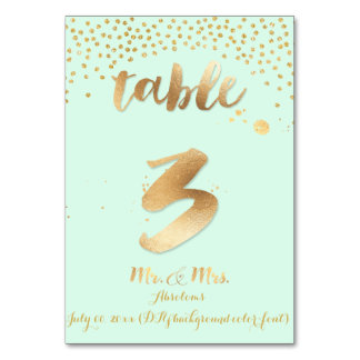 PixDezines table 3/gold sprinkles/DIY color/mint Card