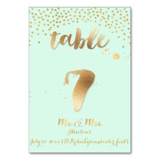 PixDezines table 7/gold sprinkles/DIY color/mint Card
