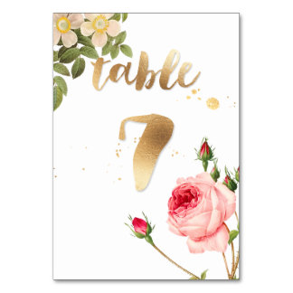 PixDezines Table 7/Vintage Roses/Redoute Table Cards