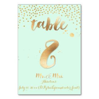 PixDezines table 8/gold sprinkles/DIY color/mint Card