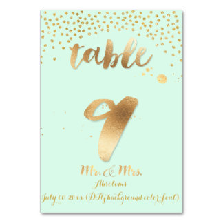 PixDezines table 9/gold sprinkles/DIY color/mint Card