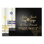 PixDezines talit/stylish b'nai mitzvah/diy color 5x7 Paper Invitation Card