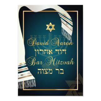 PixDezines tallit bar mitzvah/teal/gold Card