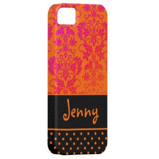PixDezines Tanza Damask/OJ+Pink+Black/DIY color iPhone SE/5/5s Case
