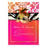 PixDezines Tanza Damask/Quinceanera/Zebra Invitations