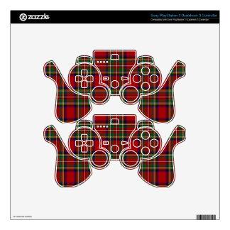 PixDezines tartan, stewart clan Skins For PS3 Controllers