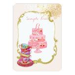PixDezines tea party/bridal/watercolor 5x7 Paper Invitation Card