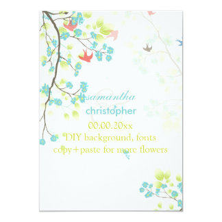 PixDezines teal cherry blossom/diy background Personalized Invites