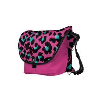 PixDezines teal leopard/DIY background color Messenger Bag