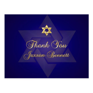 PixDezines thank you/Classic Mitzvah Postcard