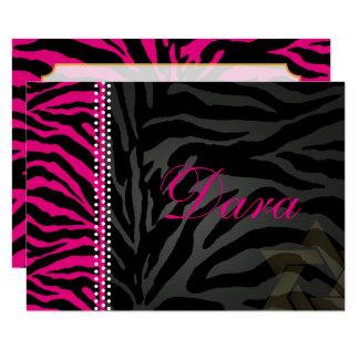 PixDezines thank you pink Zebra, Bat Mitzvah Card