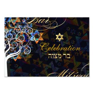 PixDezines tree of life/Bar Mitzvah celebration Personalized Invitation