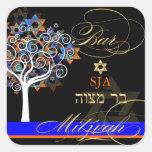 PixDezines tree of life/Bar Mitzvah/diy background Square Sticker