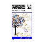 PixDezines tree of life/ Bar Mitzvah/monogram Postage Stamp