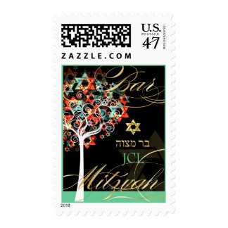 PixDezines tree of life/ Bar Mitzvah/monogram Postage