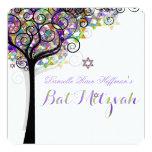 PixDezines tree of life Bat Mitzvah Custom Invitation