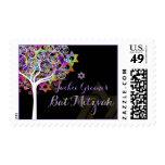 PixDezines tree of life/ Bat Mitzvah Postage Stamps