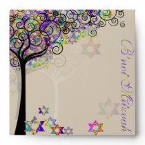 PixDezines tree of life/Mitzvah Envelope